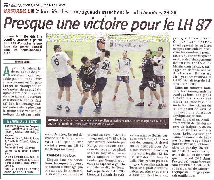 lu dans le journal local de Limoges dans News asniereslimoges